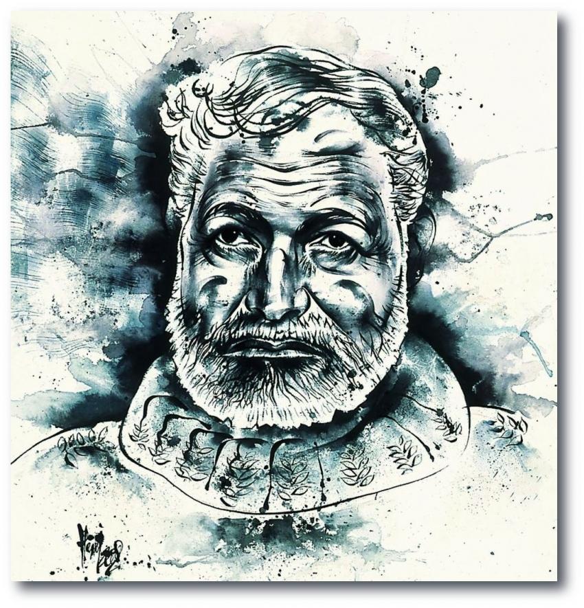 Ernest Hemingway by Vildorius